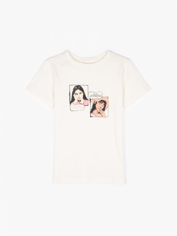 Bavlněné tričko s grafickým potiskem