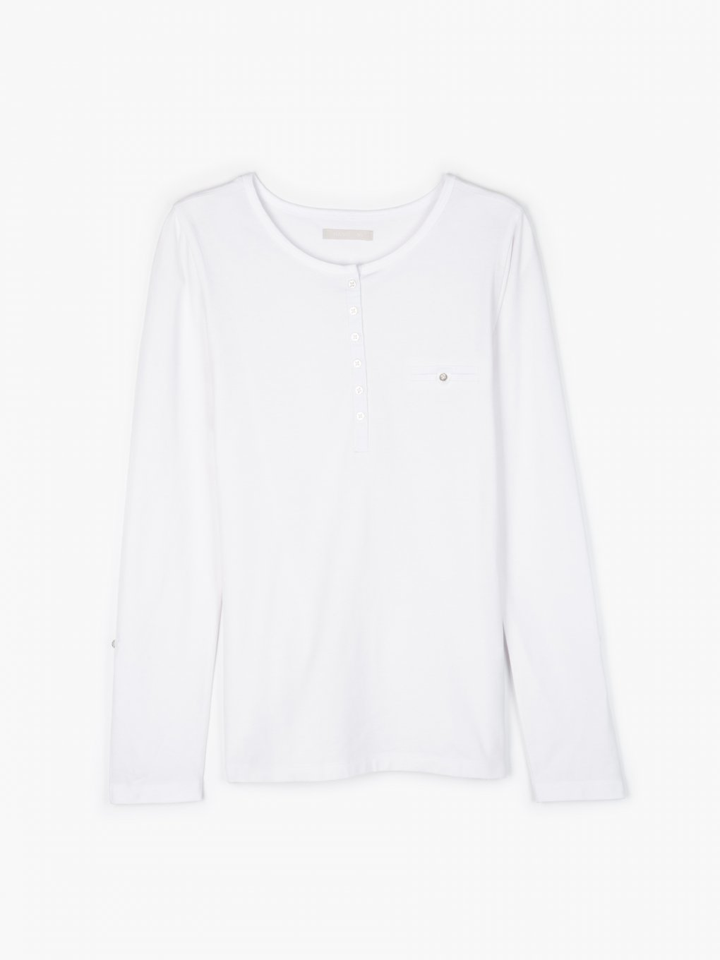 T-shirt with roll up sleeves