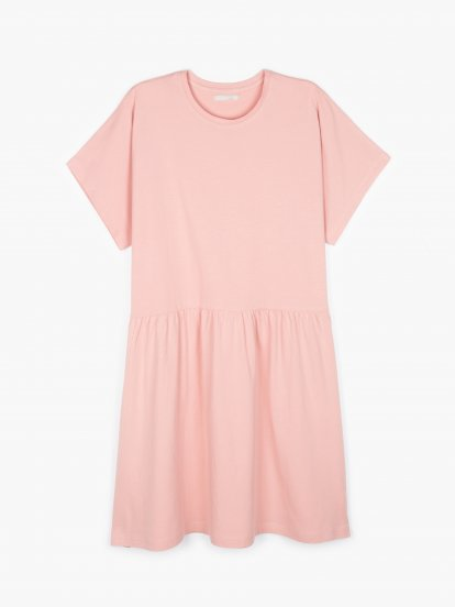 Plain cotton dress