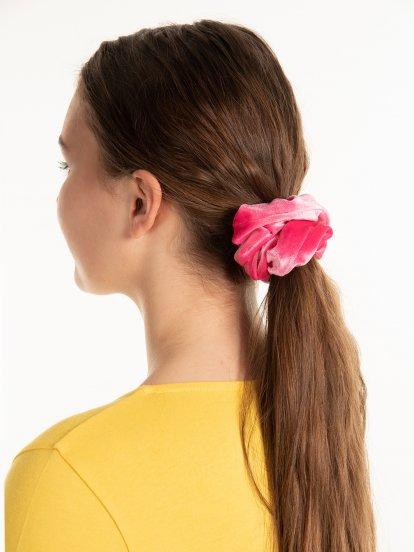 Hairband with velvet effect