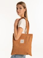 Corduroy shopper bag