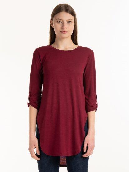 Longline 3/4 sleeve t-shirt