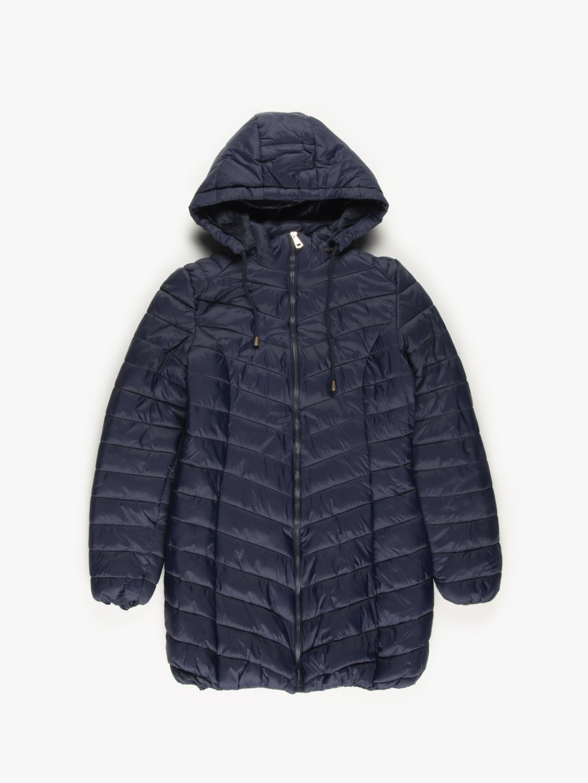 Prešívaná vatovaná bunda s kapucňou