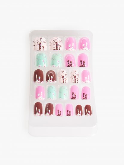 Candy design artificial nails