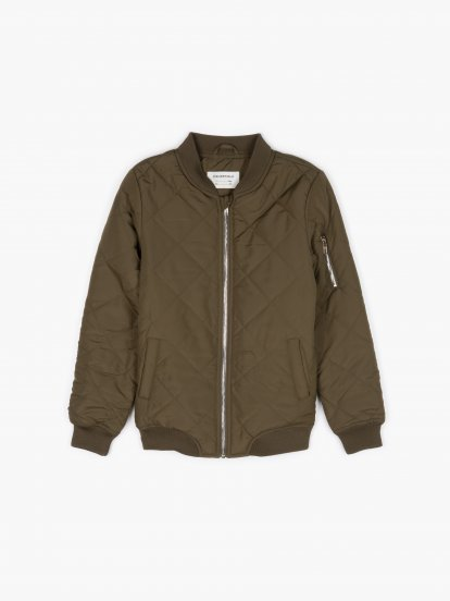 Quilted light padded bomber jacket