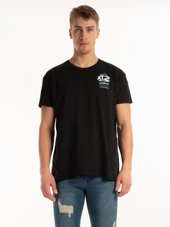 Tričko s potlačou na chrbte