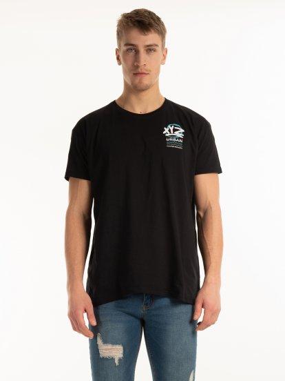 Tričko s potiskem na zádech