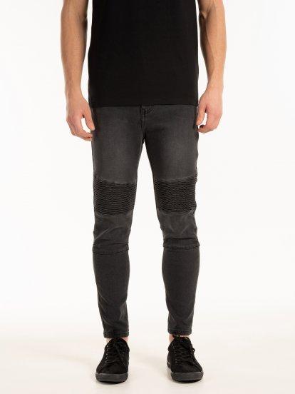 Motorkářské džíny slim fit