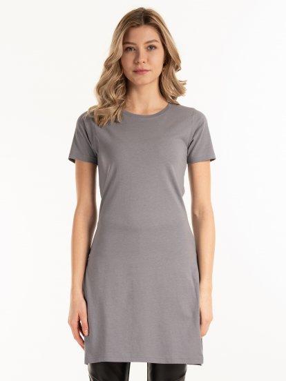 Základné dlhé tričko z bavlny