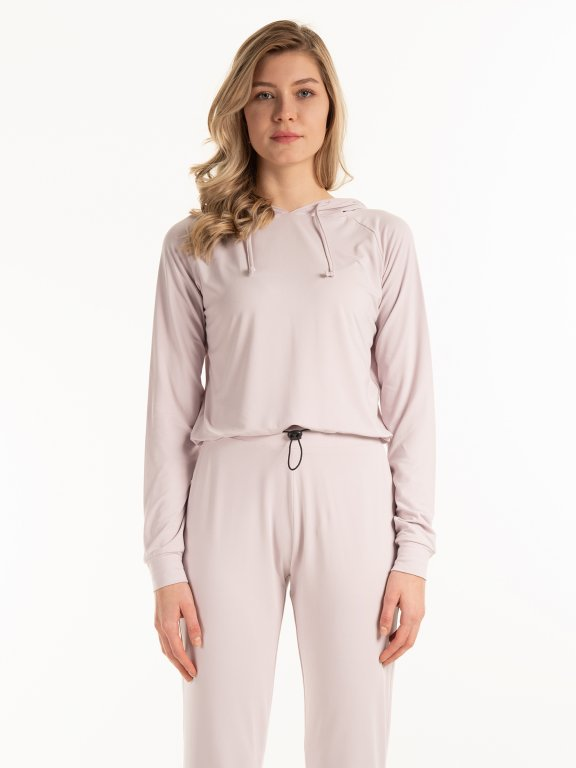 Bluza basic z kapturem