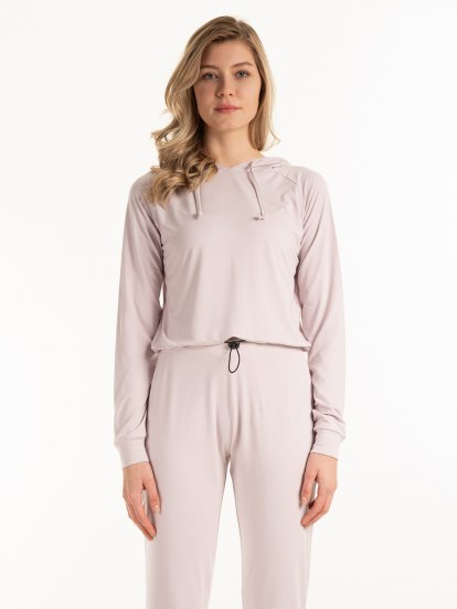 Bluza basic z kapturem