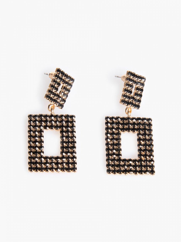 Faux stone earrings