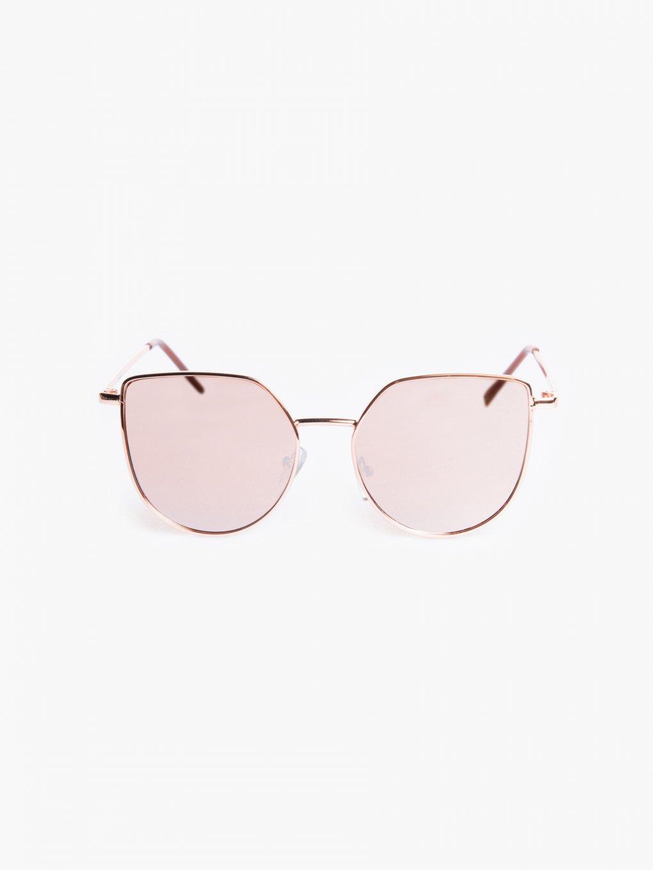 Slnečné okuliare cat eye so zrkadlovými sklami
