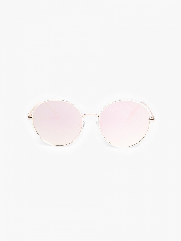 Kulaté sluneční brýle se zrcadlovými skly
