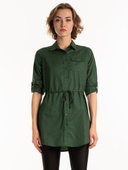 Longline cotton blouse
