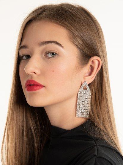 Drop faux stone earrings