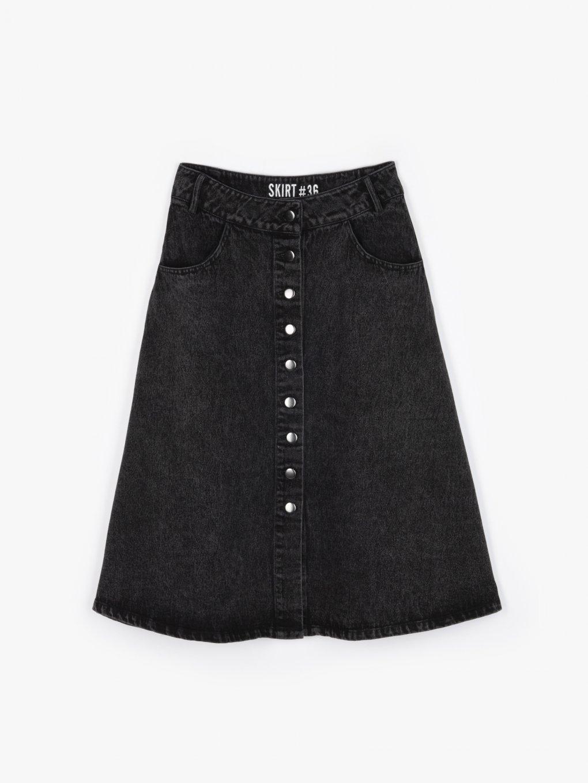 Spódnica jeansowa z guzikami