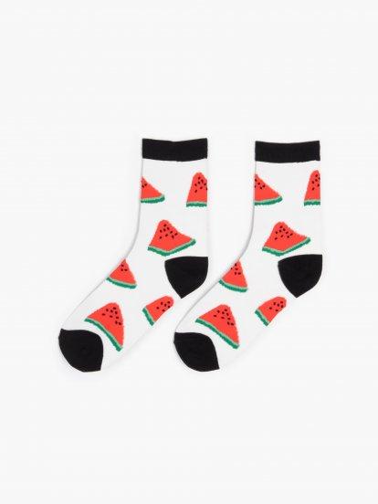 Nylonové vzorované ponožky