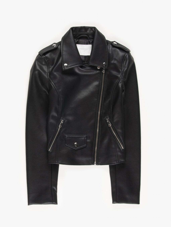 Vegan leather biker jacket