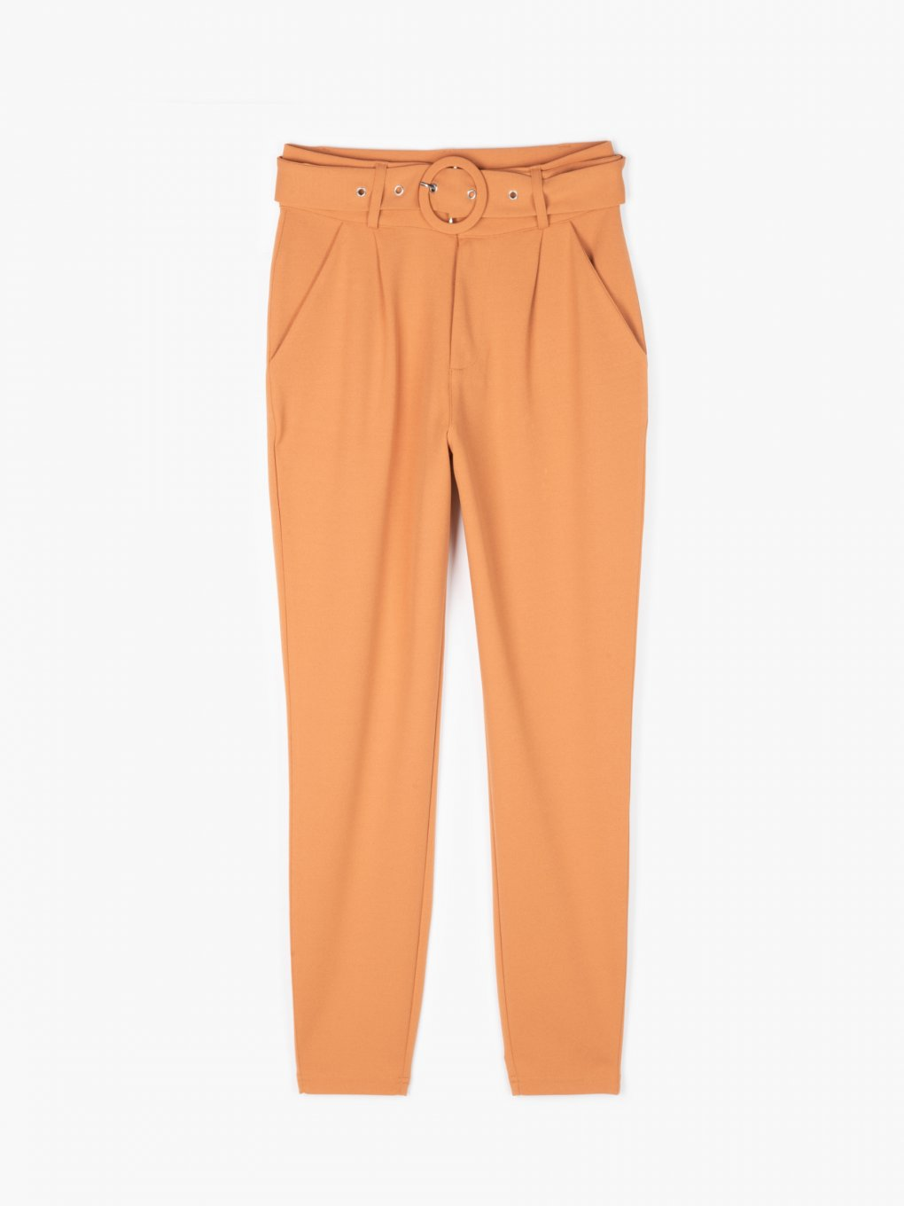 Hight waist belted trousers