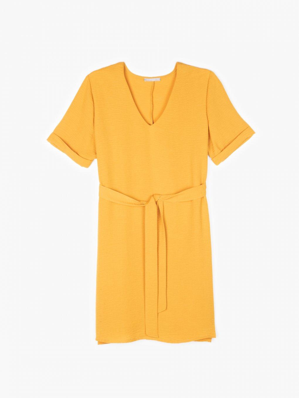 V-neck textured dress