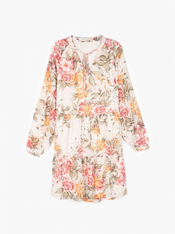 Šaty s květinovým potiskem