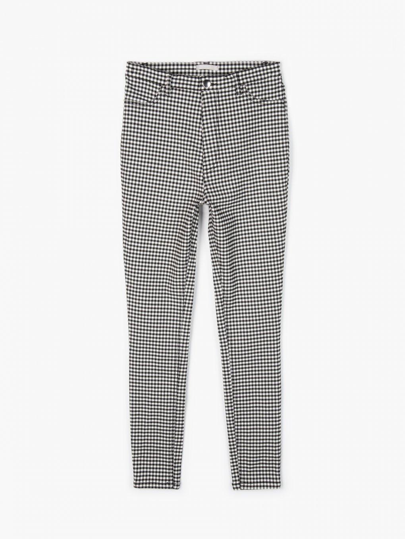 Kockované nohavice skinny