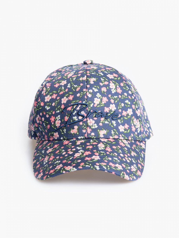 Flower print baseball cap