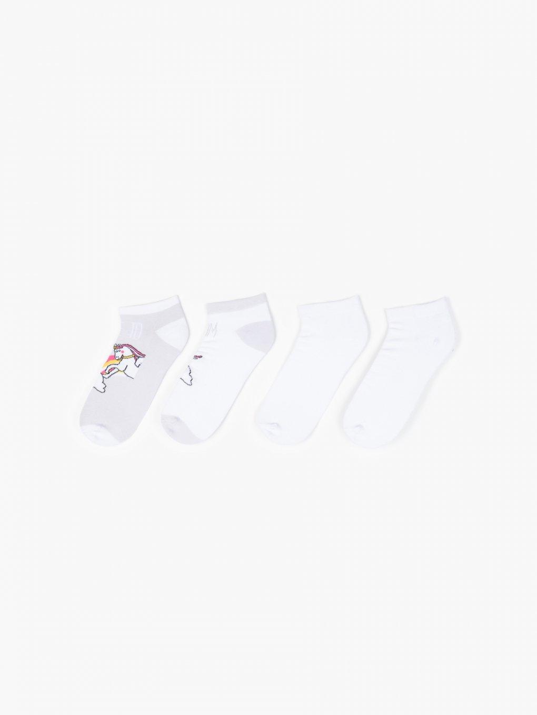 Sada dvoch párov členkových ponožiek