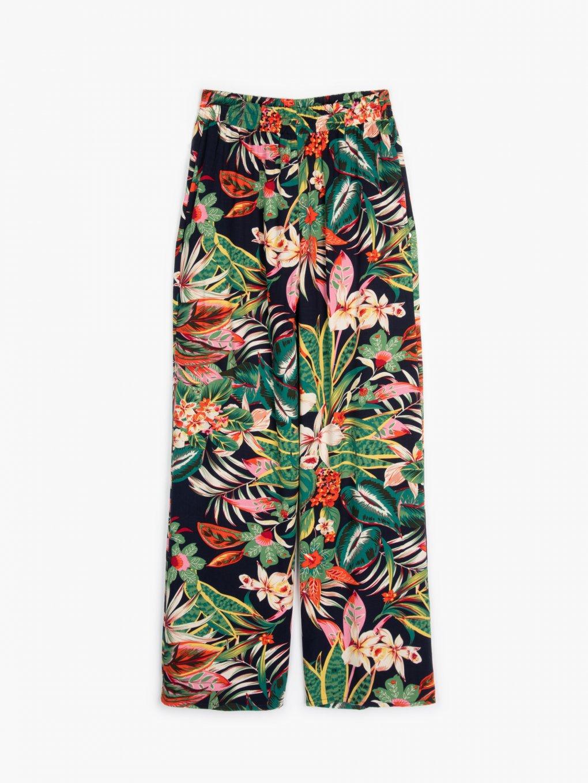 Szerokie spodnie w kwiaty