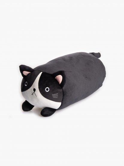 Poduszka cylindryczna z motywem kota