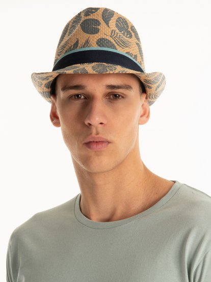 Fedora hat with print