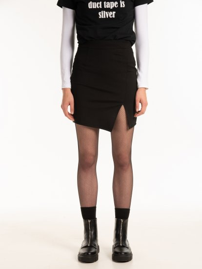 Bodycon skirt with slit
