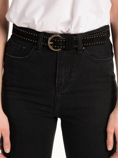 Belt with silver studs