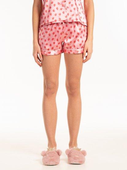 Pyžamové šortky s potiskem