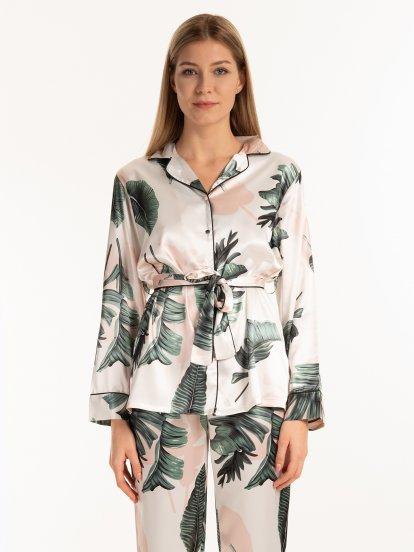 Pyžamová košile s potiskem