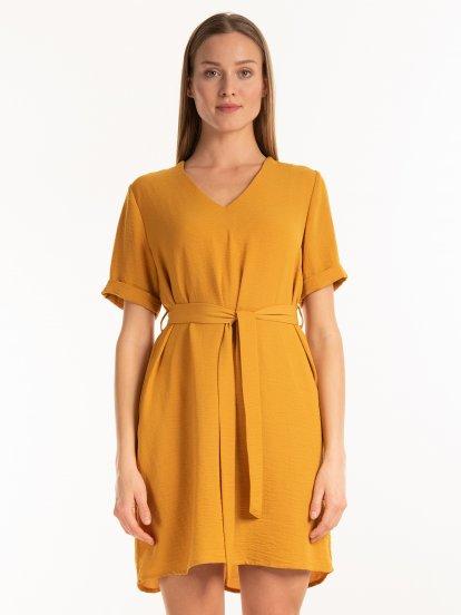 Sukienka z teksturą