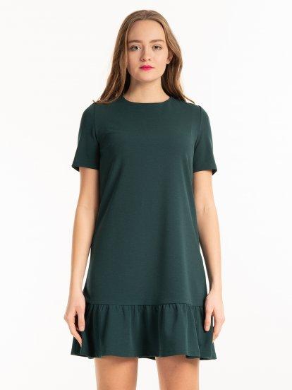Mini šaty s volánem