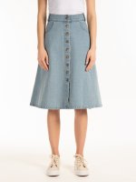 Denimová sukně s knoflíky