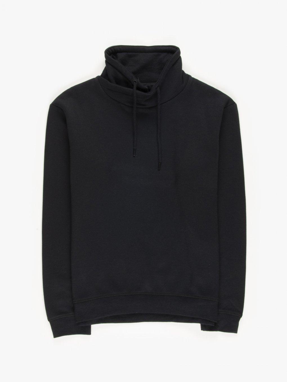 High collar sweatshirt