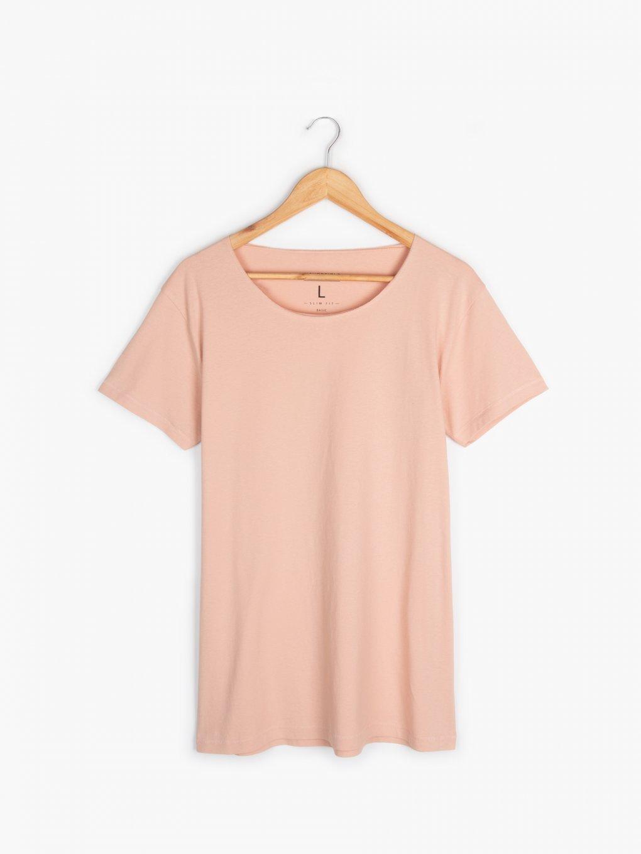 T-shirt basic z dżerseju slim
