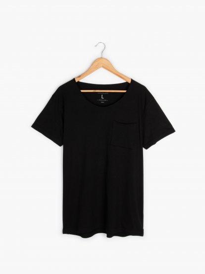 Základné tričko s náprsným vreckom