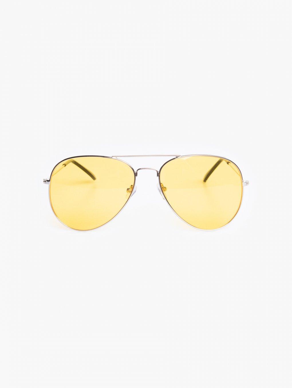 Sluneční brýle aviator s barevnými skly