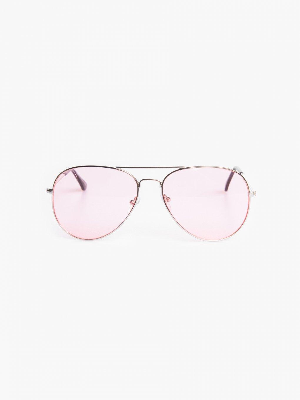Slnečné okuliare aviator s farebnými sklami