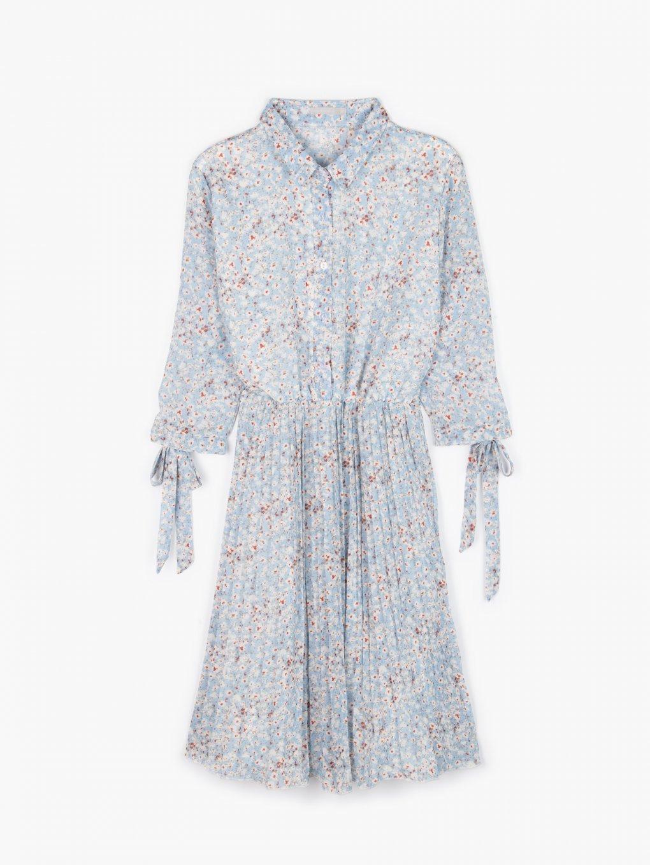 Kvetované šaty so skladanou sukňou