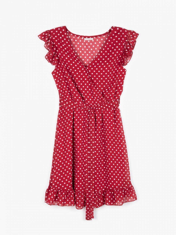 Puntíkované šifónové šaty