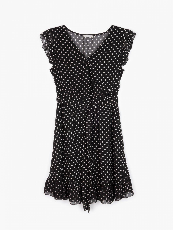 Szyfonowa sukienka w kropki