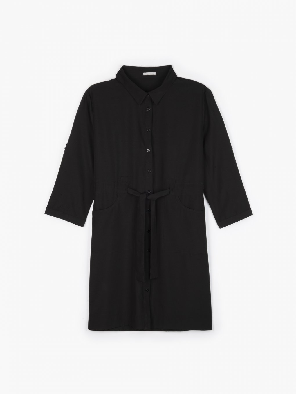 Košeľové šaty s opaskom