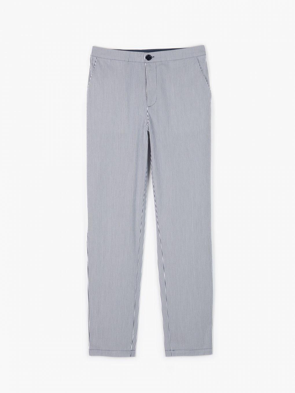 Spodnie o prostym kroju w paski