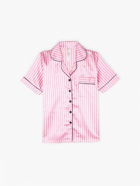 Saténová pyžamová košile